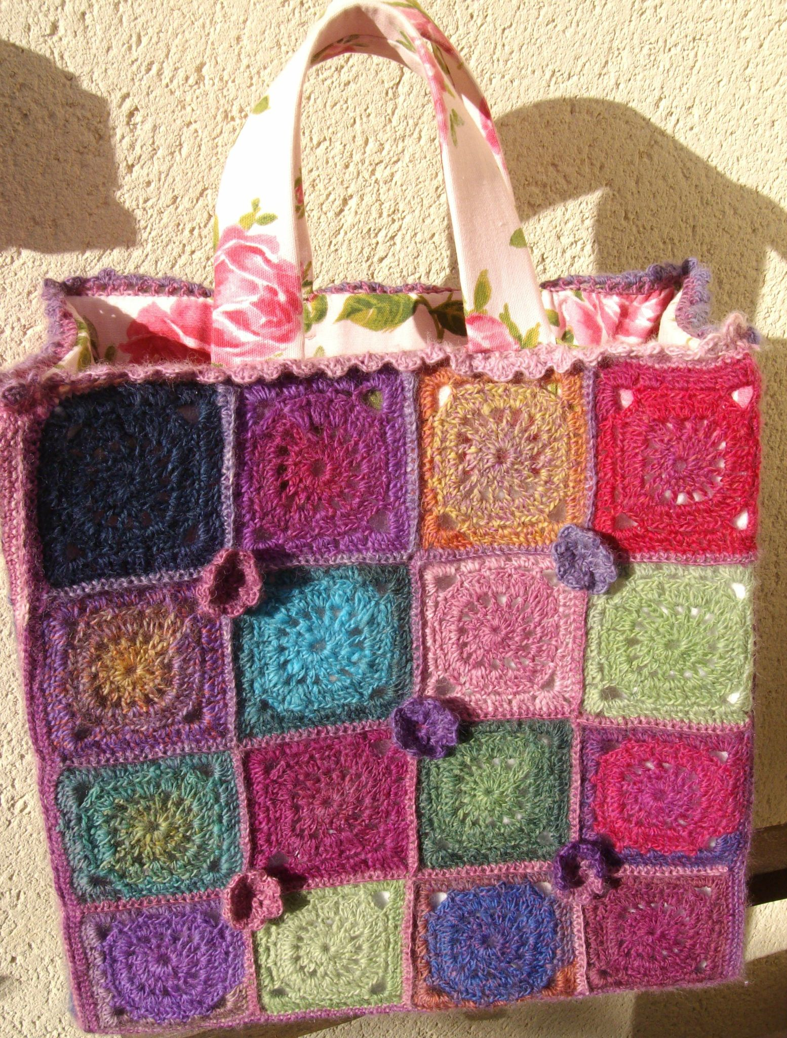 SAC CARRES CROCHET