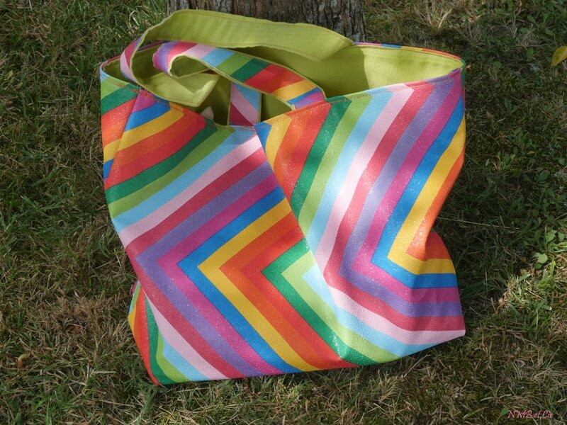 sac multicolore interieur