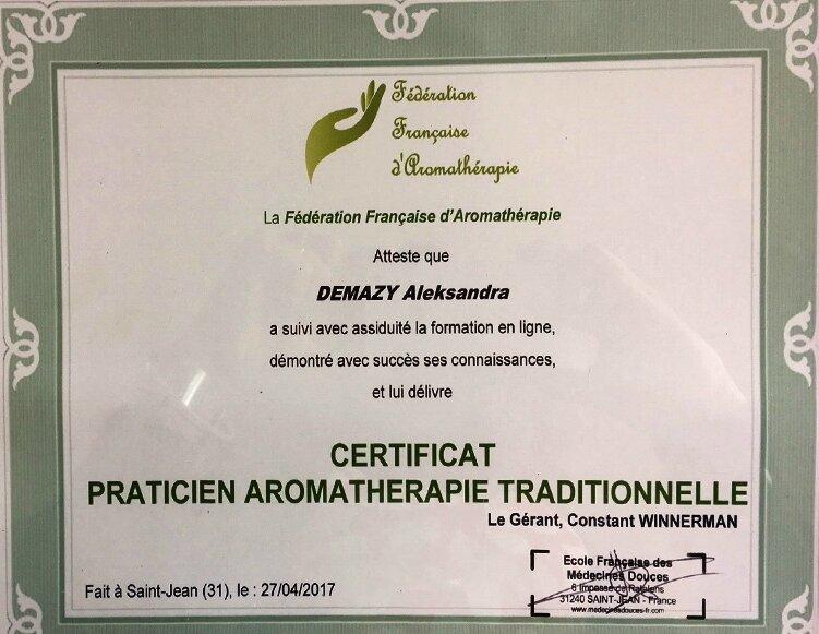 Mon certificat