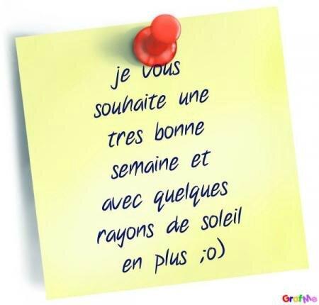 Bonne semaine post it