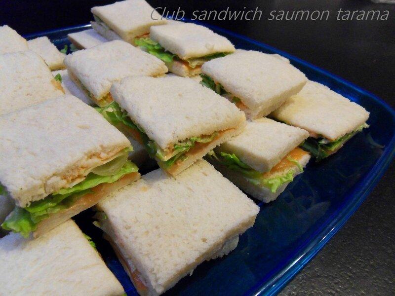 Club sandwich tarama saumon fumé1