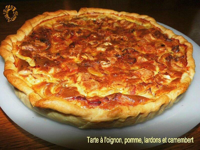 1124 Tarte à l'oignon, pomme, lardons et camembert 1