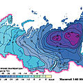 Average temperature in Russia in January