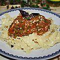 Sauce tomates & poivrons pour accompagnement de pâtes.