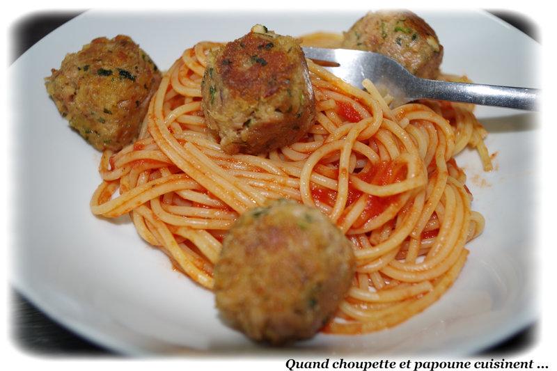 boulettes de thon et spaghettis-7783