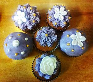 Cupcakes à la violette