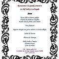 Suggestion de menu pour le réveillon du 31/12/2011