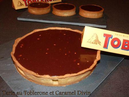 Tarte au toblerone et caramel divin3