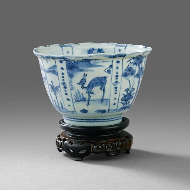 A Blue and White 'Kraak' Bowl, Wanli period ( 1573-1619). Photo Stockholms Auktionsverk