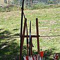 arcs sur le pas de tir de praz