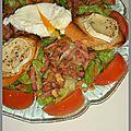 Salade de lardons et chèvre chaud au miel