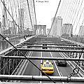 New york - taxi - photo retouchée