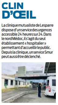 2019 10 12 SO Service d'urgences de la Clinique de Lesparre