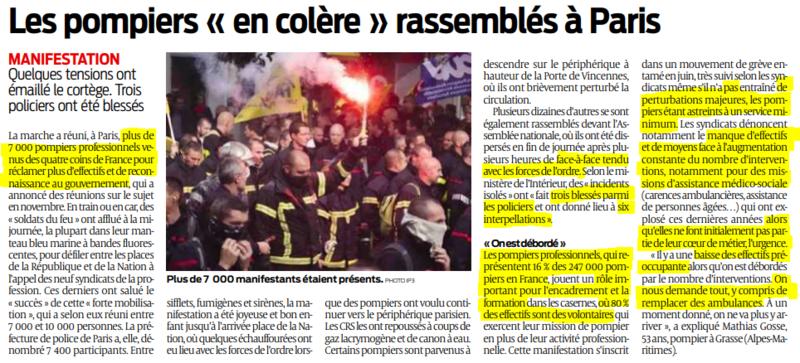 2019 10 16 SO Les pompiers en colère rassemblés à Paris