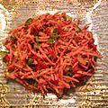 Salade de carottes aux 3 poivrons même si les