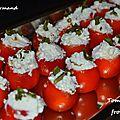 Tomates cerises au fromage frais