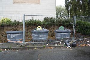 Avranches rue Mermoz travaux ordure poubelles déchets C3A