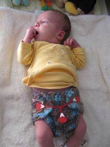 Contour de protection pour couches lavables en pure laine vierge taille nouveau-né