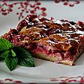 Clafoutis léger menthe fraises