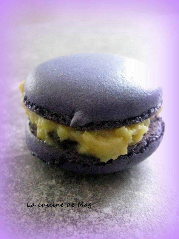 Macarons reglisse violette