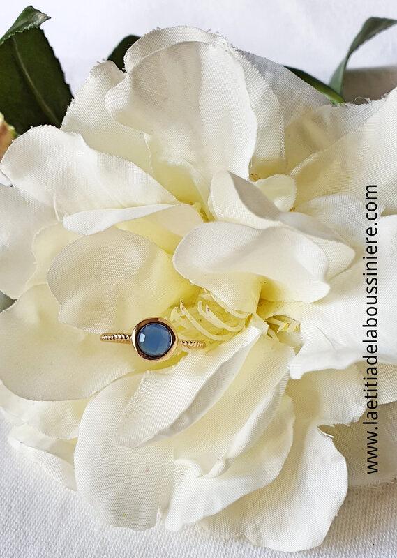 Bague Anneau rond (bleu jean) - 28 €