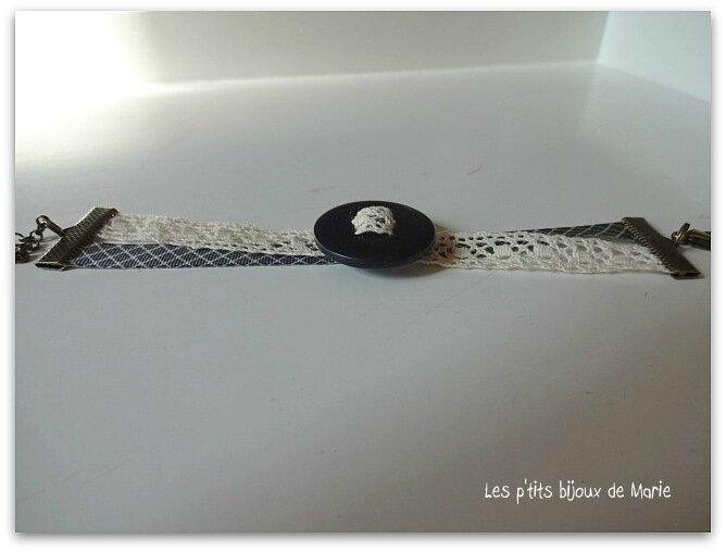 Bracelet bouton dentelle 1