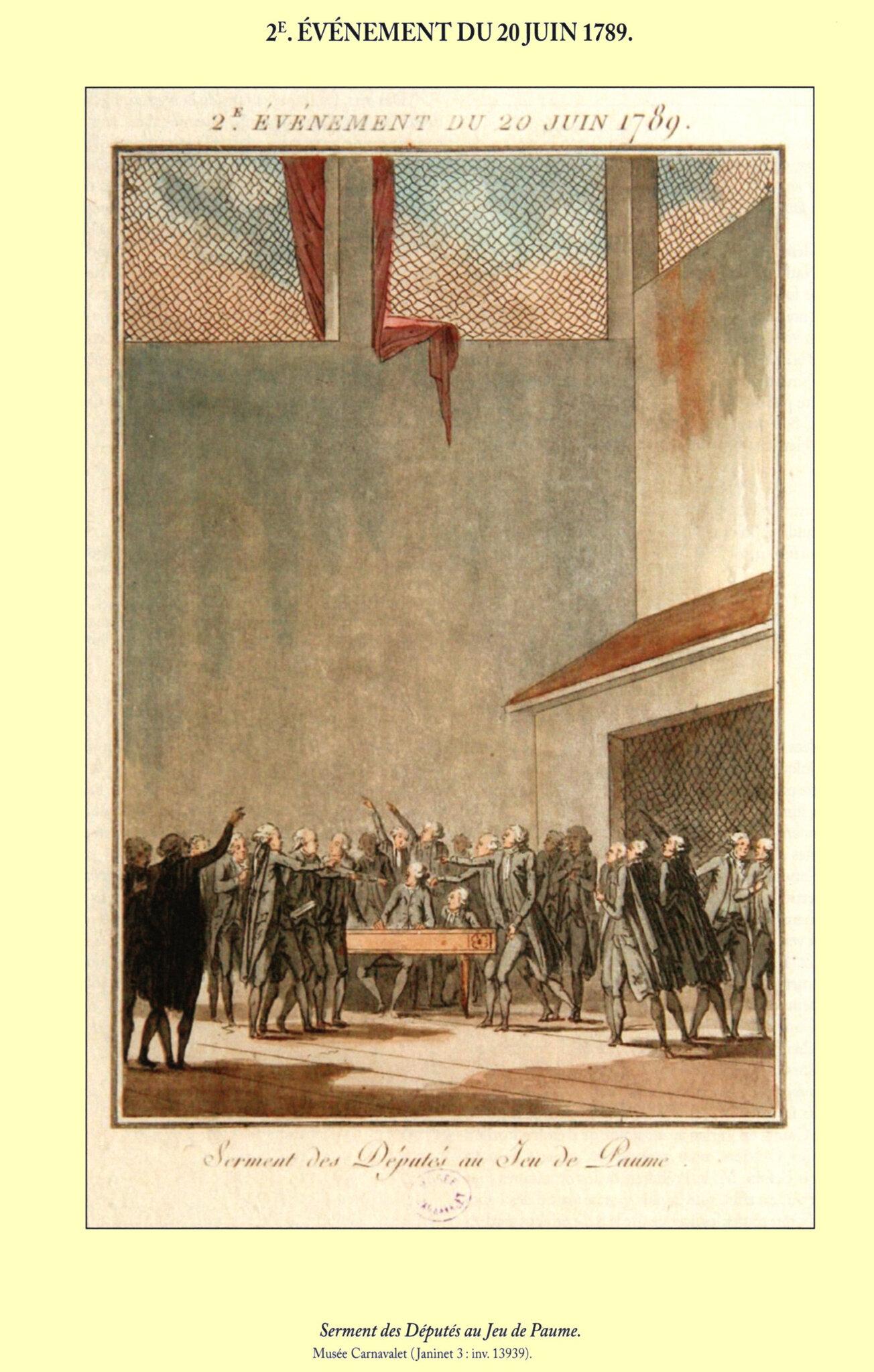 20 Juin 1789 : Serment du jeu de paume.