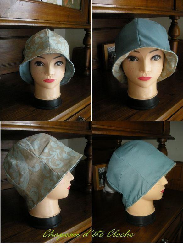 chapeau cloche réversible