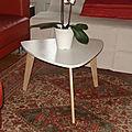 table basse style années 50 plateau MDF