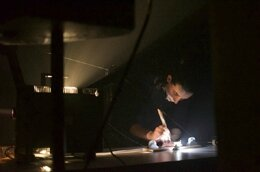 Greg Pope, Aaron Dilloway, Aurélie Percevault, Carole Thibaud and Mariane Moula performs light-trap