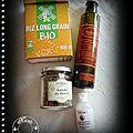 Dos de cabillaud papillotes, suprêmes de pamplemousses, gingembre ,jus orange, baies roses, huile d'argan, riz arôme coco.......