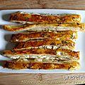 Bâtonnets feuilletés au fromage de chèvre et au thym
