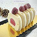 Bûche glacée vanille-framboises