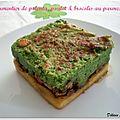 Parmentier de polenta, poulet & brocolis au parmesan
