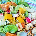 Se promener entre mer et terre : coquilles saint-jacques au gingembre et salade du jardin