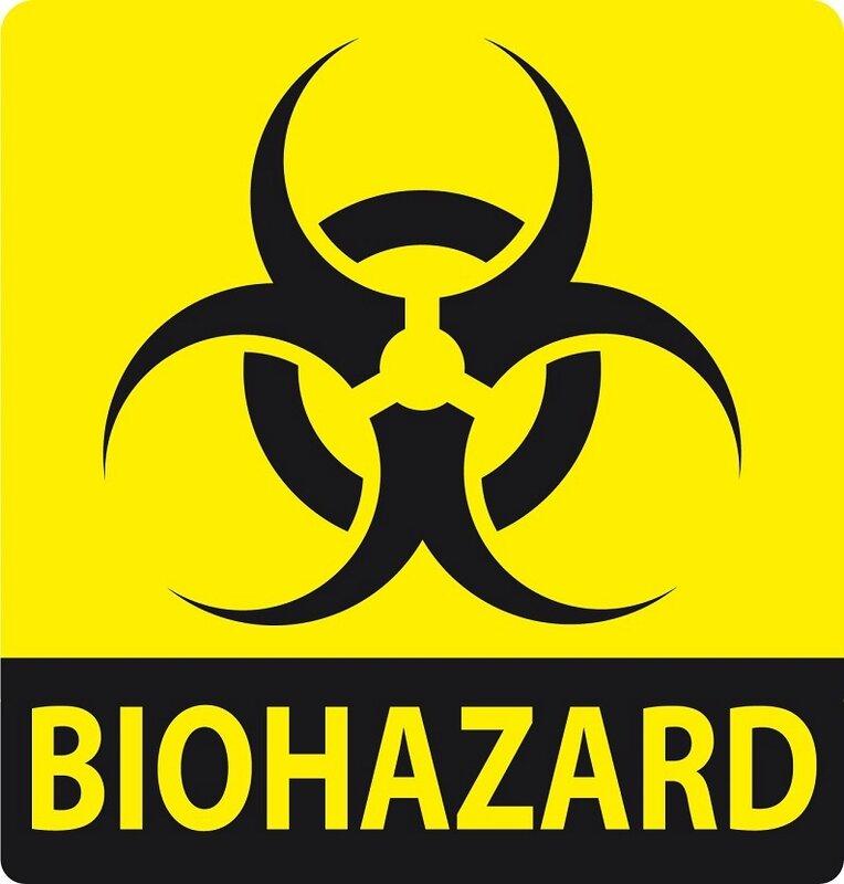 label biohazard zombie