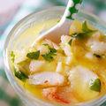 Crevettes en gelée d'agrumes