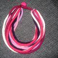 collier tricotin rose fermé