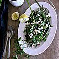 Salade de haricots verts, feta & coriandre