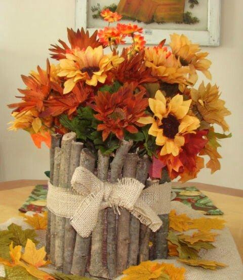 centrotavola fiori e rami