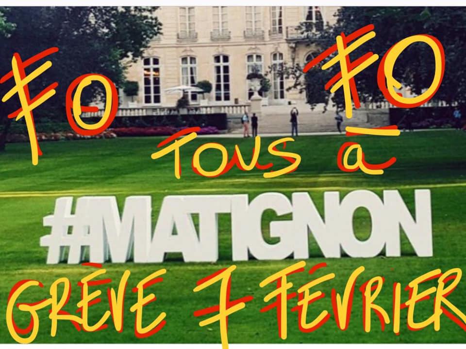 Le 7 février tous en grève pour aller chercher le pognon à Matignon . Les hospitaliers chez Macron.