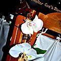 Bracelet bouquet de mariee alu avec fleur artificielle