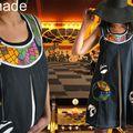 Le cirque&les arts de rue/robe noire reservee réalisée sur commande