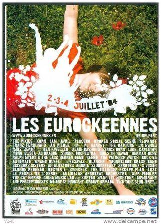 Affichette Eurockéennes 2004
