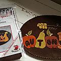 Candle mat fruits d'automne (dessin de boudufle mis en feutrine) 18 euros