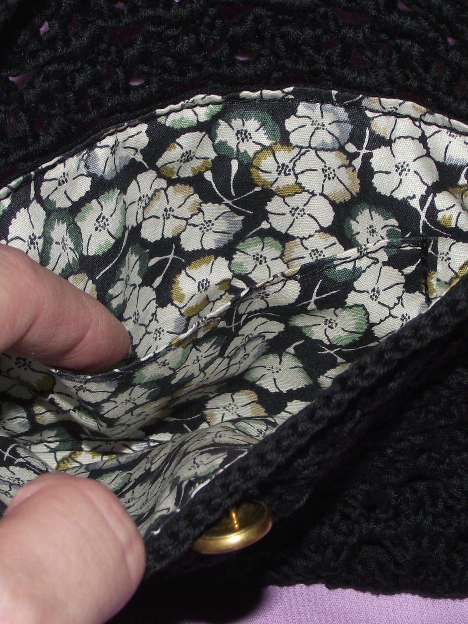 Pochette crochet Natura DMC noir Bleuzenn 003b