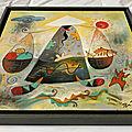 84 - Peinture tendue sur biseau et caisse américaine - Peinture vietnamienne (2)