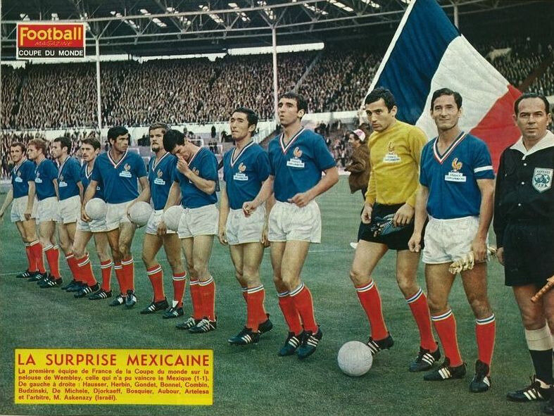 1966 07 13b Equipe France Mexique Photo Football Magazine