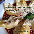 Conchiglioni farçis aux 3 fromages et au jambon fumé
