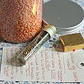 Cadeaux gourmands : kit pour soupe de lentilles corail